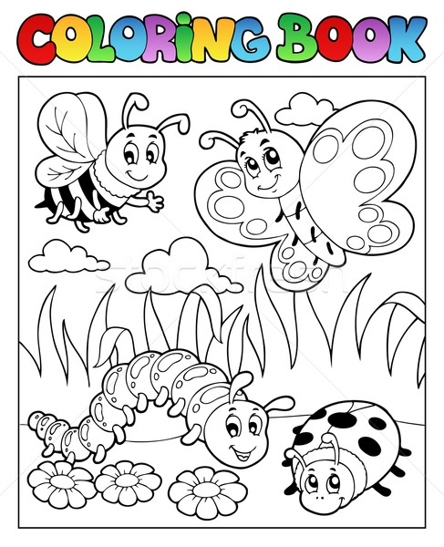 Coloring book bugs theme image 2 Stock photo © clairev