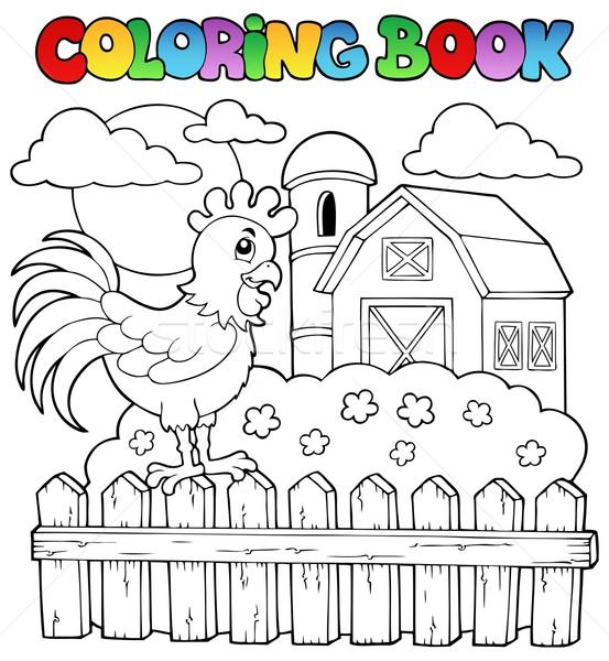 Boyama Kitabı Kuş Görüntü Bahar Kitap Boya Vektör