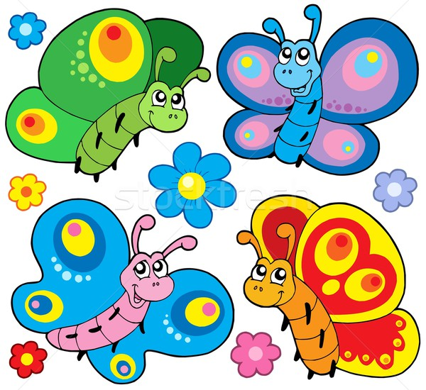 Cute butterflies collection Stock photo © clairev