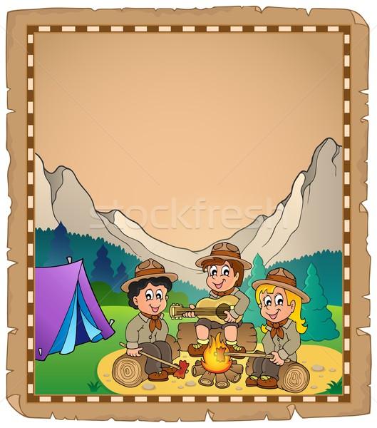 Children scouts theme parchment 2 Stock photo © clairev