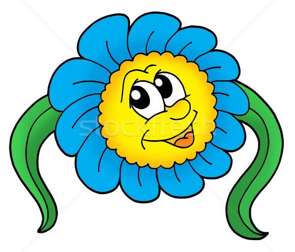 Stock fotó: Virág · levél · fehér · szín · illusztráció · mosoly