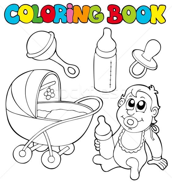 Boyama Kitabı Bebek Toplama Gülümseme Kitap çocuk