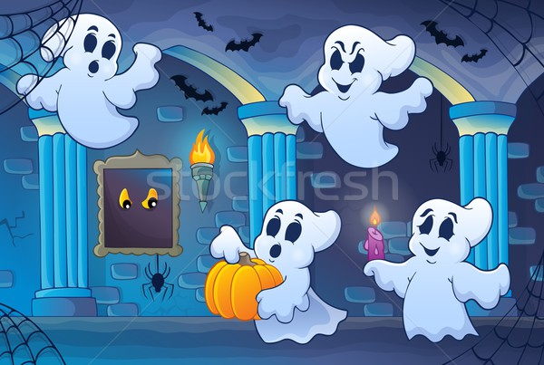 Haunted castle interior theme 6 Stock photo © clairev