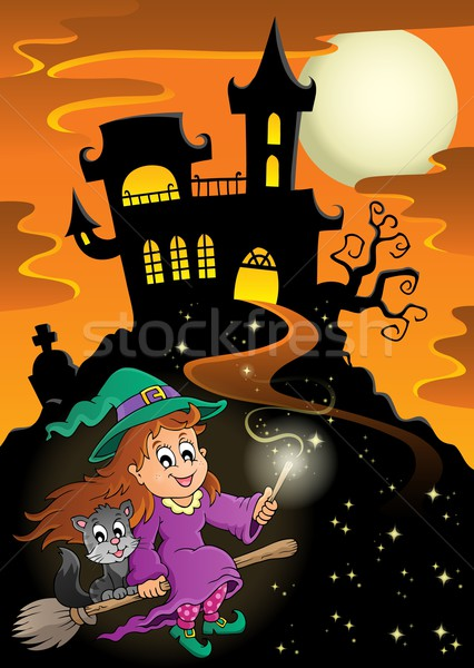 Haunted mansion Halloween theme Stock photo © clairev