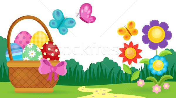 Easter eggs thematic image 3 Stock photo © clairev