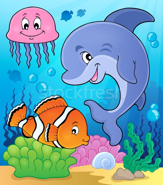 Ocean fauna topic image 2 Stock photo © clairev
