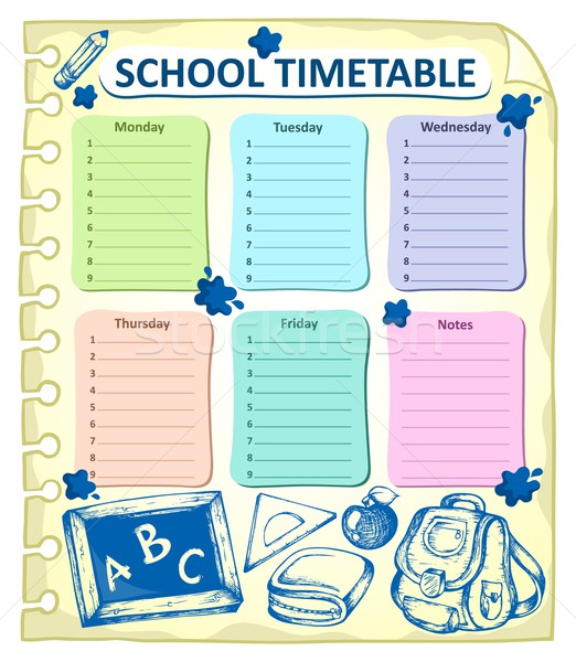 Weekly school timetable topic 4 Stock photo © clairev