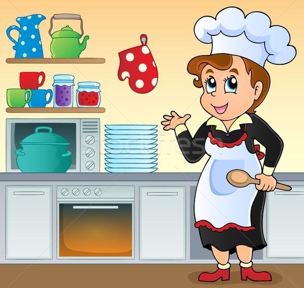 女性 調理 トピック 画像 ルーム 作業 ストックフォト © clairev