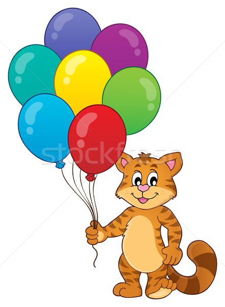 Happy party cat theme image 1 Stock photo © clairev