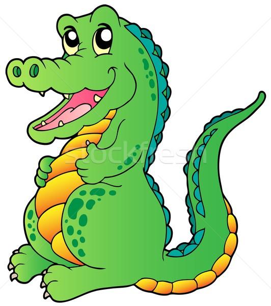 Cartoon standing crocodile Stock photo © clairev