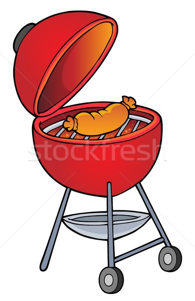 Barbeque téma kép művészet főzés szakács Stock fotó © clairev