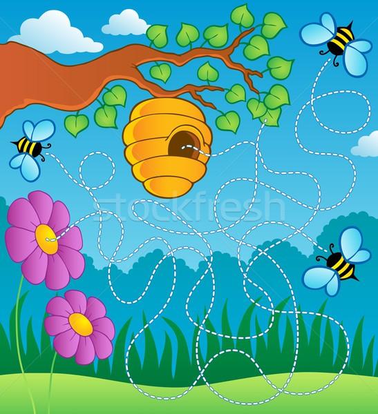 商业照片: 蜜蜂 · 迷宫 ·花· 春天 · 艺术 · 夏天