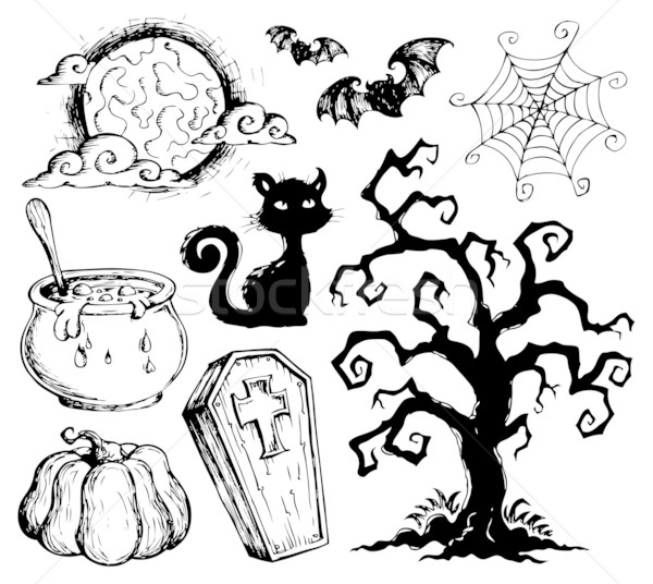 Halloween drawings collection 2 Stock photo © clairev