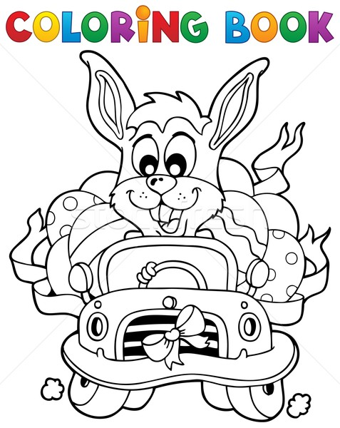 Coloring book with Easter theme 7 Stock photo © clairev