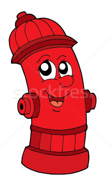 Cute red fire hydrant Stock photo © clairev