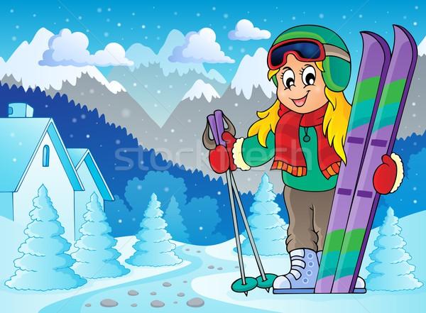 Skiing theme image 2 Stock photo © clairev