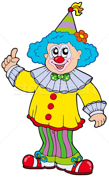 Funny smiling clown Stock photo © clairev