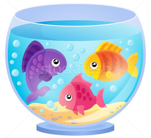 Aquarium Bild Wasser Fisch glücklich Unterwasser Stock foto © clairev