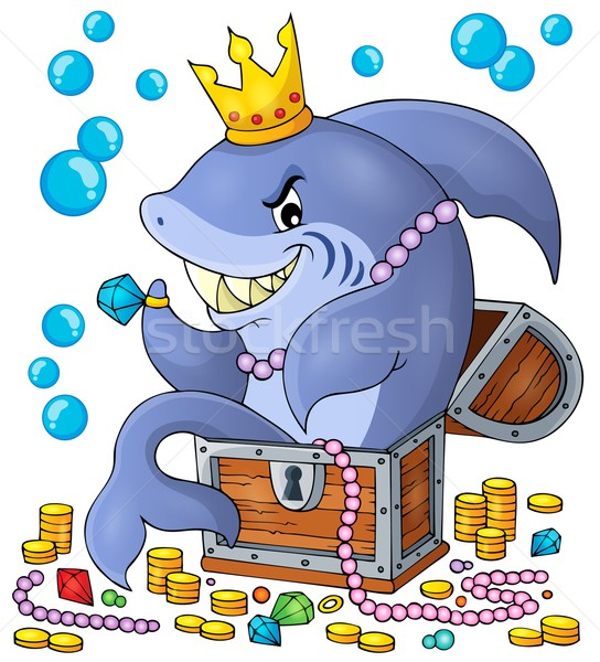 Shark with treasure theme image 1 Stock photo © clairev