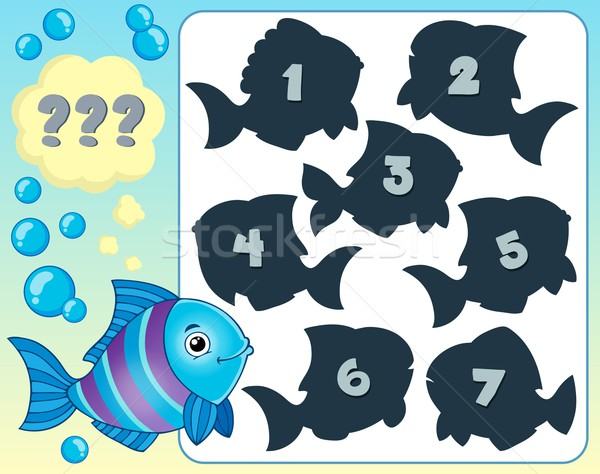 Fish riddle theme image 1 Stock photo © clairev