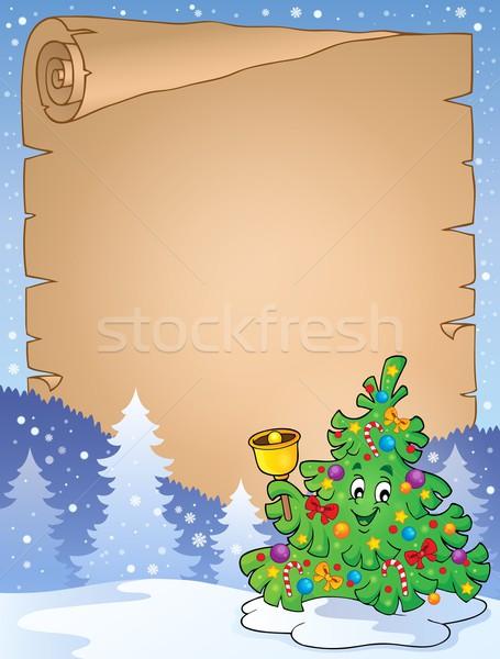 羊皮紙 クリスマスツリー トピック ツリー 芸術 リング ストックフォト © clairev