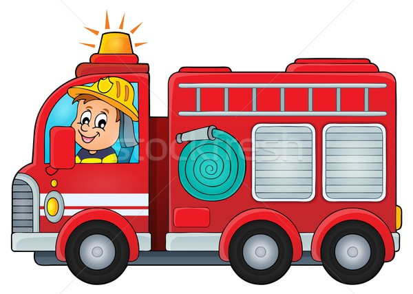 Fire truck theme image 4 Stock photo © clairev