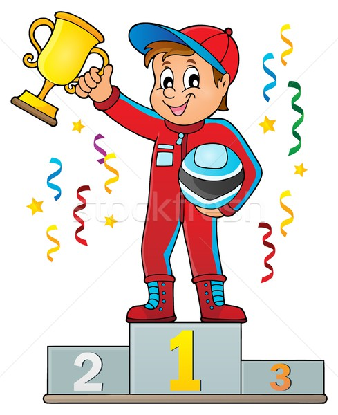 Car racer holding trophy theme image 2 Stock photo © clairev