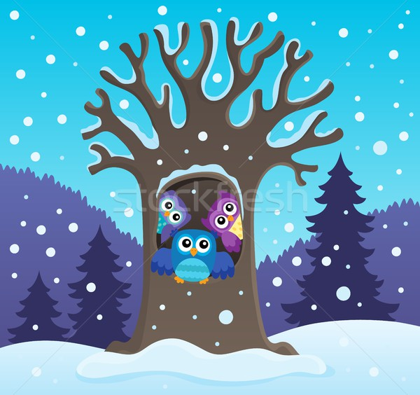Owl tree theme image 2 Stock photo © clairev