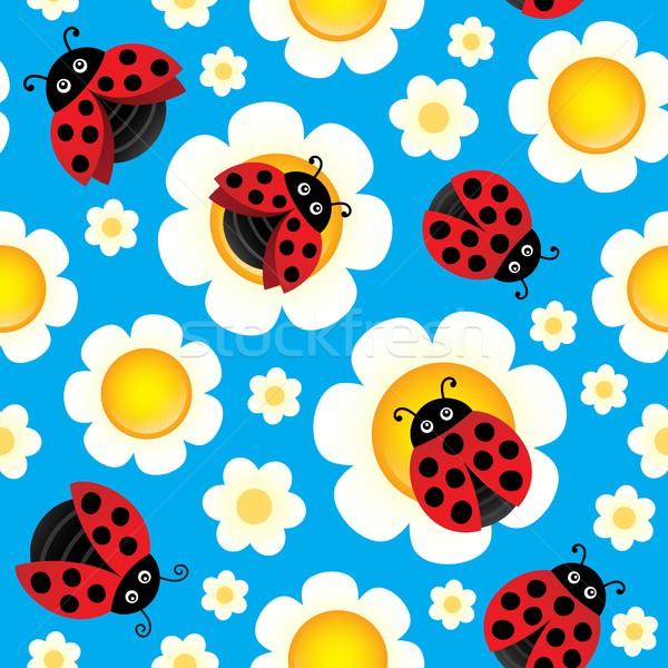Foto stock: Primavera · sem · costura · flores · natureza · arte · padrão