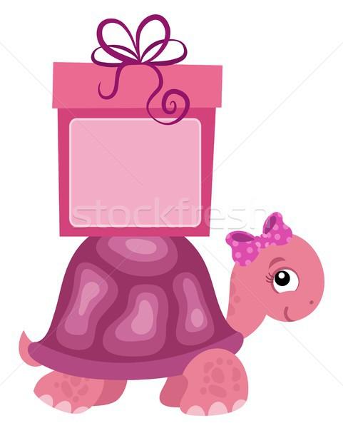 ピンク カメ ギフト パーティ 幸せ 歳の誕生日 ストックフォト © clairev