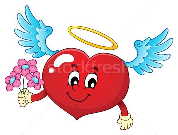 Валентин сердце тема изображение стороны любви Сток-фото © clairev