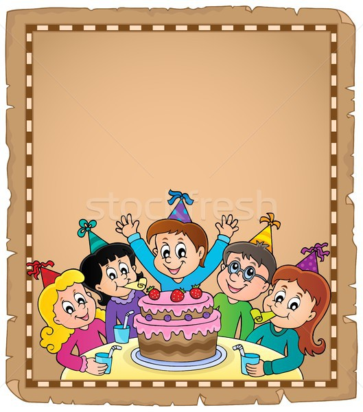 Kids party topic parchment 1 Stock photo © clairev
