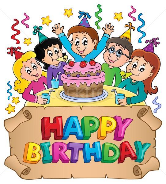 Joyeux anniversaire image papier fête enfants heureux Photo stock © clairev