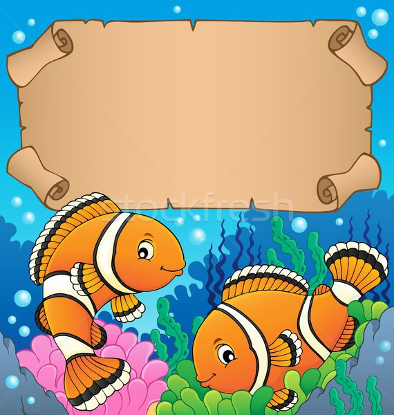 Small parchment with clownfish theme Stock photo © clairev