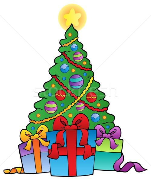 矢量图: 装饰 · 圣诞树 · 礼品 · 设计 · 艺术 · 礼物
