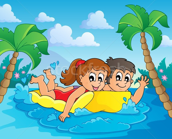 Summer water activity theme 4 Stock photo © clairev