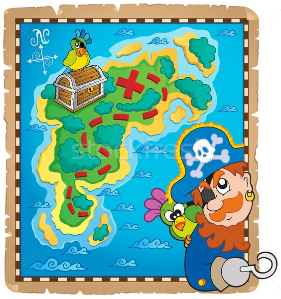 Treasure map topic image 4 Stock photo © clairev