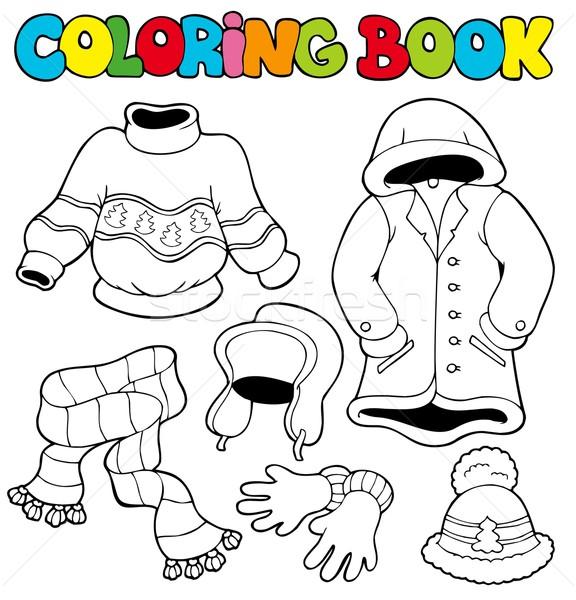 Libro Da Colorare Inverno Vestiti Libro Vernice Arte