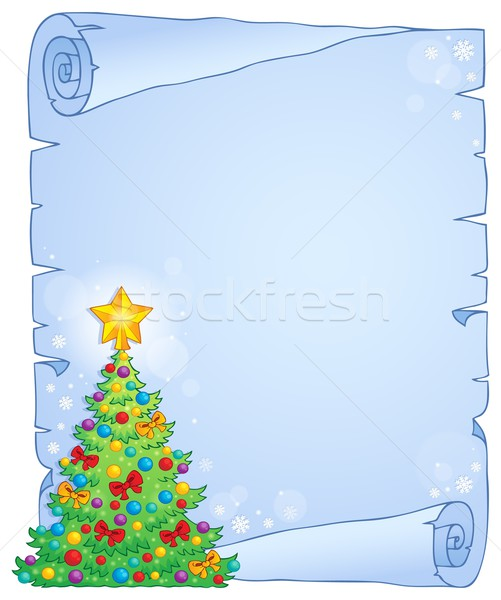 Christmas thematic parchment 7 Stock photo © clairev