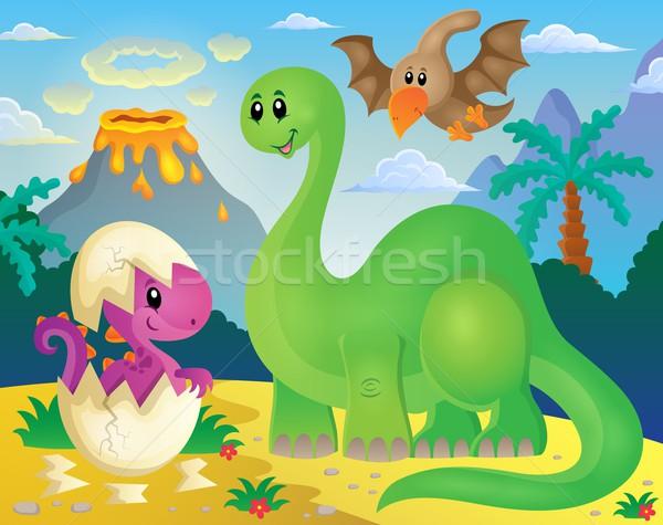 Dinosaur theme image 5 Stock photo © clairev