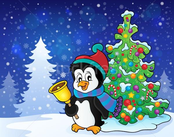 Christmas penguin topic image 7 Stock photo © clairev