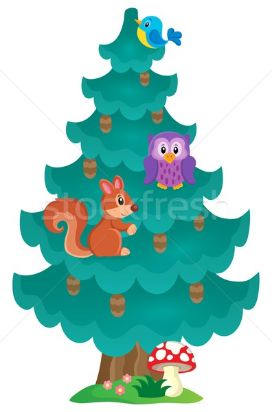 Coniferous tree theme image 2 Stock photo © clairev