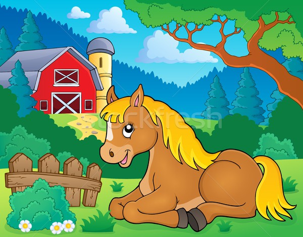 Stock photo: Horse topic image 2