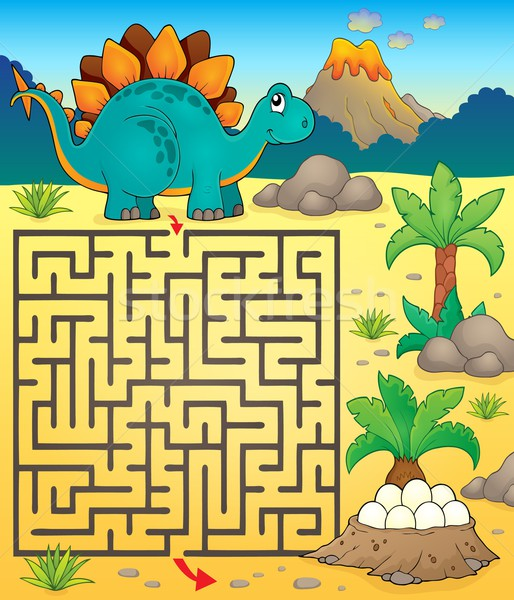 Maze 3 with dinosaur theme 1 Stock photo © clairev