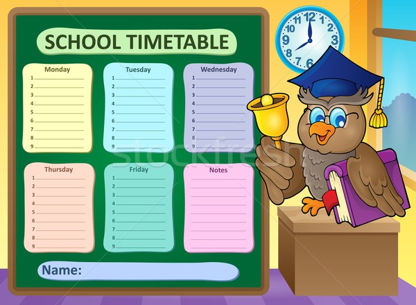 Weekly school timetable topic 9 Stock photo © clairev