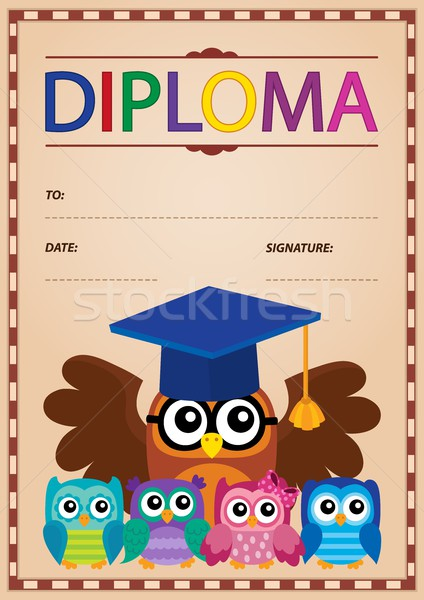 Diploma thematics image 5 Stock photo © clairev