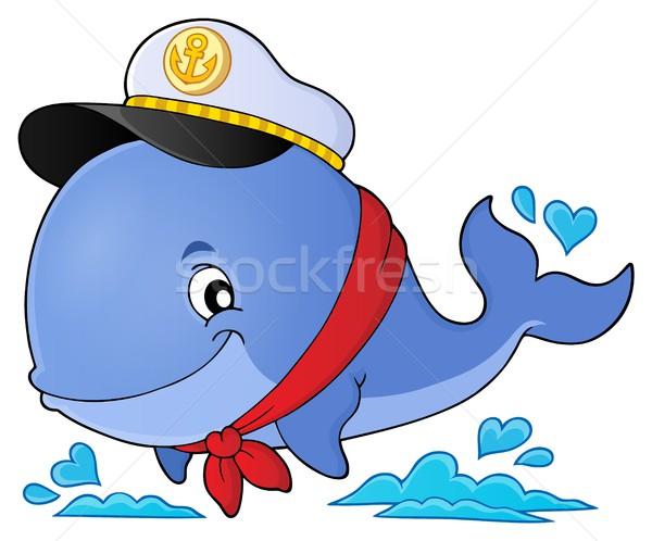 моряк кит изображение улыбка морем Hat Сток-фото © clairev