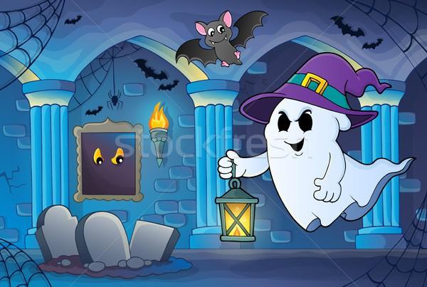 Fantasma seis lanterna arte quarto castelo Foto stock © clairev