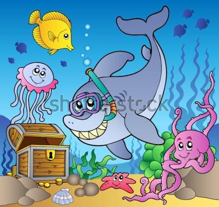 Pirata tartaruga imagem água mar arte Foto stock © clairev