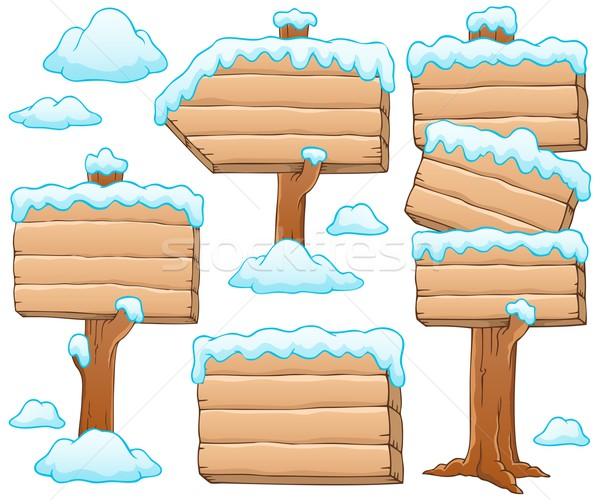 Wooden signboard theme image 5 Stock photo © clairev